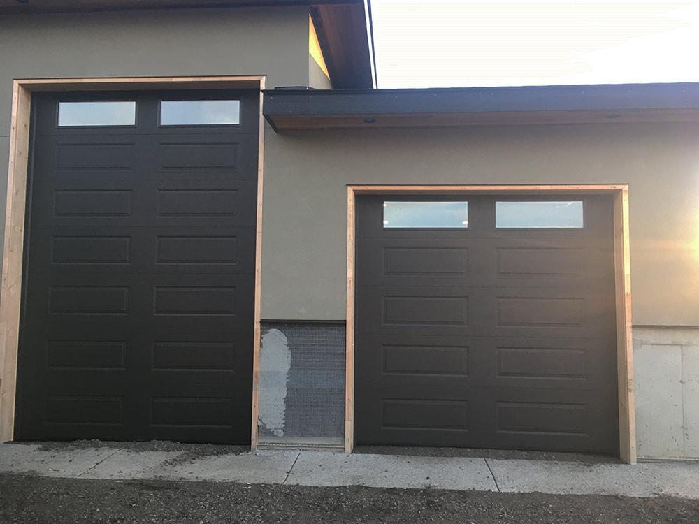 new custom double garage