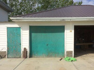 old plywood garage door replacement